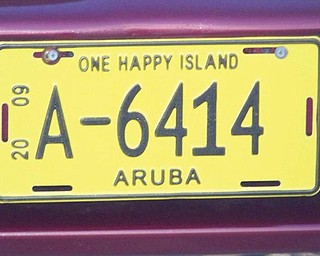 Ron, Pam, Keary and AJ Iarussi of Struthers visited the island of Aruba this summer. This license plate there says it all!