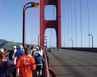 Running races in unusual places: Presidio 10K in San Francisco, Calf. Taken by Dan Shields of Canfield.