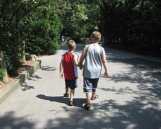 This is Alex, 10, and Anthony, 7, Weimer of Poland vacationed at at Kings Island in Cincinnati.