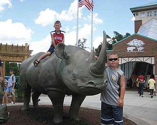 Alex and Anthony Weimer of Poland are at the Cincinnati Zoo.