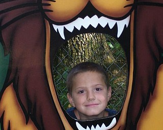 Michael Campbell, 9, Youngstown spent a day at the zoo.