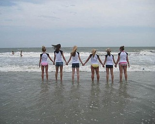 'Backs in Myrtle Beach' shows, from left, Lyndsay Olenych of Boardman High School, Natalie DeGenova of Poland High School, Laura Tinkler of Canfield High School, Joellin Chance of Austintown Fitch High School, Caprie Klacik of Boardman High School and Rylie Jarrett of Boardman High School.
