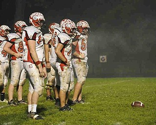 Steam rools of of the Columbiana defence as they get set to protect their goalline against Springfield. Photo/Mark Stahl