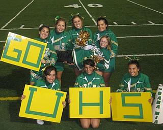 UHS Varsity Cheerleaders beaming with Pride
