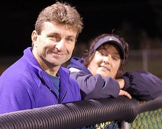 Will Lightner and Stacey Harkelrode enjoy the Lowellville / Sebring game.