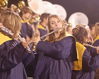 Lowellville's marching band members enjoying the end of the
