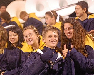 J T Hvisdak and friends give Lowellville's win a thumbs up!