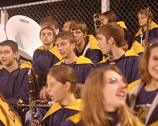 Lowellville's marching band members enjoying the end of the game!