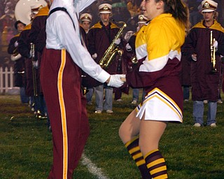 """Senior band members Ethan Parks and Brittany Haynes dance to ""Zoot