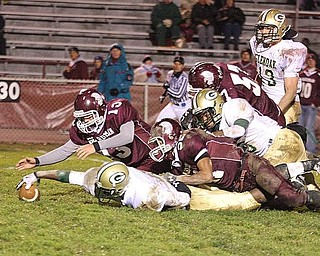 BOARDMAN - (13) Joe Markovitch leads the Boardman special teams and recovers a fumble Friday night. - Special to The Vindicator/Nick Mays