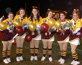 """South Range Senior Cheerleaders are honored at Friday evening's Senior Night Ceremony."""