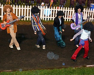 """""""South Range band's version of the Jackson 5 performed during the halftime show...despite the rainy weather."""""""