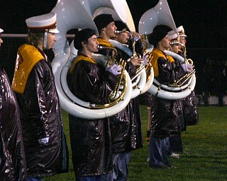 """""""The rainy weather didn't stop the South Range band from performing Friday evening at halftime.  The woodwinds didn't play, but the tubas and the rest of the brass sounded off!"""""""