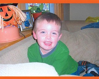 This is Caleb Hnat, 3, of Austintown.