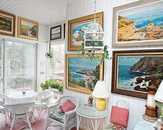 LET SUNSHINE IN: The sun room at the Inn at the Green is a spot where many visitors enjoy breakfast.