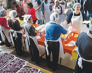 The Salvation Army's annual Thanksgiving feast at the Glenwood Avenue facility on the city's South Side.