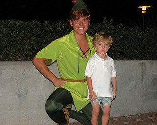 3-year-old Anthony Triveri of Poland got to take a vacation to Disney World, where he met his hero, Peter Pan.