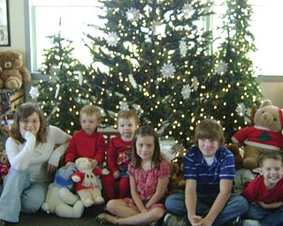 Here are the grandchildren of Karen and Haven Grittie of Ellsworth: From left, Brooke, Alton and Kylee Ramsey, all of Ellsworth; Rylie Ramsey of Deerfield, Brandon Janis of Deerfield; and Luke Ramsey of Ellsworth. Missing from the photo is Nicole Janis of Deerfield.