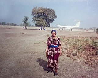 Mirian Harvey in Sudan while working for the UN's World Food Program in Sundan, Eritrea, and Kenya from 1998-2001.