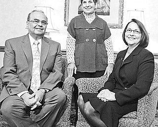 AFFAIRS OF THE HEART: Their dedication to combating cardiovascular disease and to pediatric research is shared by, above from left, Dr. Atef S. Labib, the recipient of the American Heart Associations's 2010 Cardiac Service Award; Julie Nohra Schiavone, recipient of the Heart of the Community Award; and Dr. Cathy Mastropietro, chair of the American Heart Association's 2010 Heart Ball.