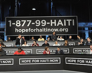 """In this image released by Hope for Haiti Now, the panel for """"Hope for Haiti Now: A Global Benefit for Earthquake Relief"""", on Friday, Jan. 22, 2010, in New York. (AP Photo/Evan Agostini/Hope for Haiti Now)"""
