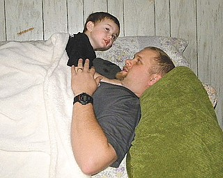 Luke Holko and his dad, Chad.