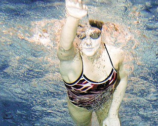 SCOTLAND THE BRAVE: Youngstown State sophomore swimmer Kirstin Walker practices at the Beeghly Center pool. Walker is a native of Duns, Scotland.