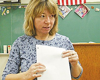 William D. Lewis/The Vindicator Girard HS english teacher Judy barber.