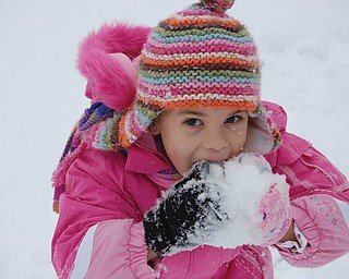 When asked by her mother Sallly Jones what she wanted for lunch one day, Samantha Jones, 5 1/2 of Canfield, said SNOW!