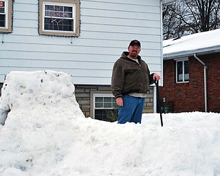 JOB WELL DONE: Sam Brunton of Mineral Ridge shows off his masterpiece..