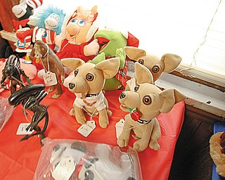 NOVELTY ITEMS: Small stuffed animals are for sale inside the Monastery Inn's bookstore and gift shop. Bishop Timothy, of the Syro-Russian Orthodox Catholic Church, said the shop is one way they are trying to raise money to renovate the facility. Religious books, pictures and other items can be purchased, as well as some non-religious items.