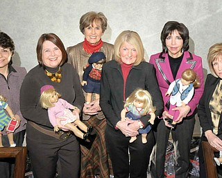 MODEL MEMBERS: Due to the efforts of Angels of Easter Seals, the popular American Girl Fashion Show and Luncheon is returning to the Valley on March 13 and 14 at Mr. Anthony's in Boardman. Chairmen of this year's event are, from left, Carol O'Neill, Mary Celeste Van Sickle, Julie Costas, Betty Cmil, Denise DeBartolo York and Phyllis Bacon, Angels president.