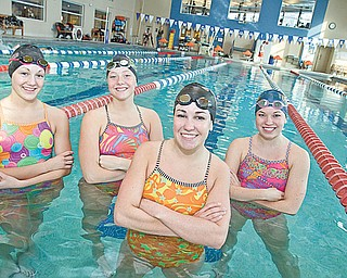 STATE QUALIFIERS: Members of the Canfield High swim team, from left, Johnna Dunkel, Kathryn Mason, Emily King and Hilary Allen, will compete in the state championships starting Friday in Canton.