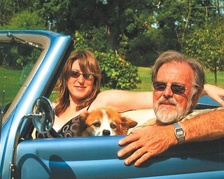 "Heidi VanAuker and Bob Vestal of Canfield with Rascal."" Photo was taken by Lana VanAuker of Canfield."