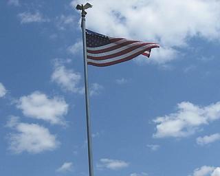 This photo of our freedom flag was taken by Joseph Puntel of Austintown. This flag flies over Lake Milton..