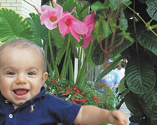 Jack Hurdley of New Middletown on vacation enjoying the flowers and sun. Sent by his mother, Jessica Hurdley..