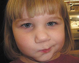 Jackie Bower of Austintown took this picture of her daughter, Kaelyn Bower, 3..