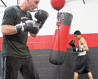 Kelly Pavlik works out at the South Side Boxing gym