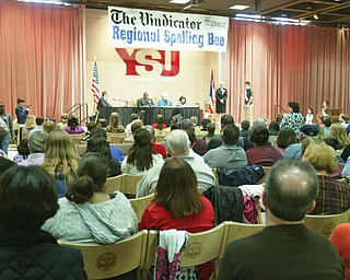 ROBERT K. YOSAY | THE VINDICATOR..the 2010 -77th Vindicator Spelling Bee was held  at the Chestnut Room at Kilcawley Center at YSU - 30-