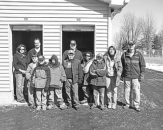 The Vindicator Saving the Scraps Members of Cub Scout Pack 101 of Warren, Patrol 5, and Webelos 2 and their parents collected 30,000 papers that were scrapped during the startup of a new press at The Vindicator, and stored them in two units donated by Randy and Tiffany Caldwell, owners of Secure All Storage in Cortland. Satisfied that their work will benefit the Animal Welfare League are, from left, Sue Dodd, Terry Fowler, Jordan Fowler, Nathaniel James, Cole Kuszmaul, Bill Dodd, Van Padula, Christian Padula, Max McLeod, Melissa McLeod, and Mike McLeod. Also participating was David James.