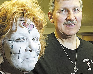 Kay and Leonard Suzelis of Lake Milton are directors of ÒFor You, For MeÓ spiritual mime ministry. The traveling troupe recently performed at St. Joseph the Provider Church in Campbell. .