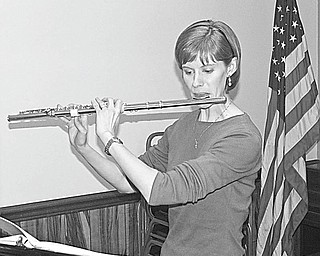 The Vindicator: During a recent meeting the Rotary Club of Canfield was treated to musical entertainment by Brianne Sharkey Olsen, a former Rotary Ambassadorial Scholar, who spoke of her ambassadorial year in England studying flute and of her experiences during that year. Applicants for an ambassadorial scholarship grant of $26,000 for a full year of academic study abroad, must have completed at least two years of university or college courses. For more information contact a local Rotary Club or visit www.rotary.org.