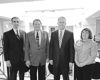 Mark Stahl   The Vindicator:  Joining forces to promote the upcoming Red Cross Red and White Ball, a major fundraiser for the Mahoning Chapter of the American Red Cross are, from left, Lou Joseph, chapter president; Paul Johnson, co-chair of the ball; Greg Greenwood, honorary chair; and Gail Froomkin, publicity.