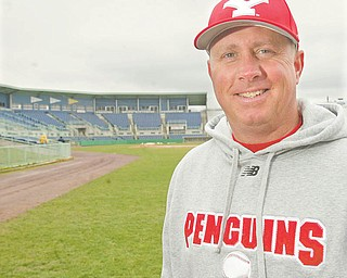 YSU baseball coach Rich Pasquale held practice at Eastwood Field on Monday. The Penguins play host to UIC there this weekend.