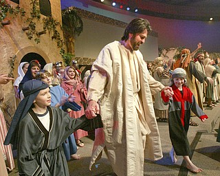 William D. Lewis|The Vindicator Jesus, portrayed by Bob Little of McDonald  during Passion Play at Highway Tabernacle in Austintown.