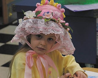 ItÕs Gioia Mavar of Canfield donning her Easter bonnet..