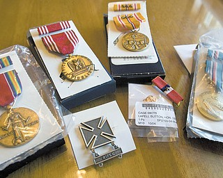 Leonelli's medals include the Asiatic-Pacifi c Campaign Medal with three Bronze Battle Stars, signifying his participation in the Battle of New Guinea and the Battles of Layte and Luzon in the Philippines.