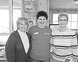 The Vindicator: The 27th Apple Dessert Recipe Contest sponsored by White House Fruit Farm in Canfield took place March 27. Winners were Joyce Brooks of Salem, first place for her Apple Pecan Cheesecake; Gwen Vela of Enon Valley, Pa., second for her Apple Caramel Walnut Pie; and Ginny Perkins of Columbiana, third for her New England Apple Pudding. Each received apples for a year and a gift certificate. Sharing the happy moment are, from left, Vila, Debbie Pifer of White House Fruit Farm and Brooks. Entry fees were matched by the farm and donated to Second Harvest Food Bank along with 72 bushes of apples.