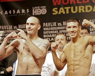 Pavlik Martinez weigh-in Atlantic City.