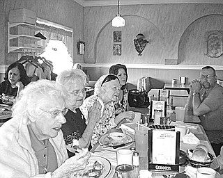 Members of the Jackson-Milton High School Class of 1946 met for a reunion luncheon recently at Dino's Restaurant in North Jackson. Those attending spent an enjoyable time reminiscing about their high-school days and talking about their lives since then.